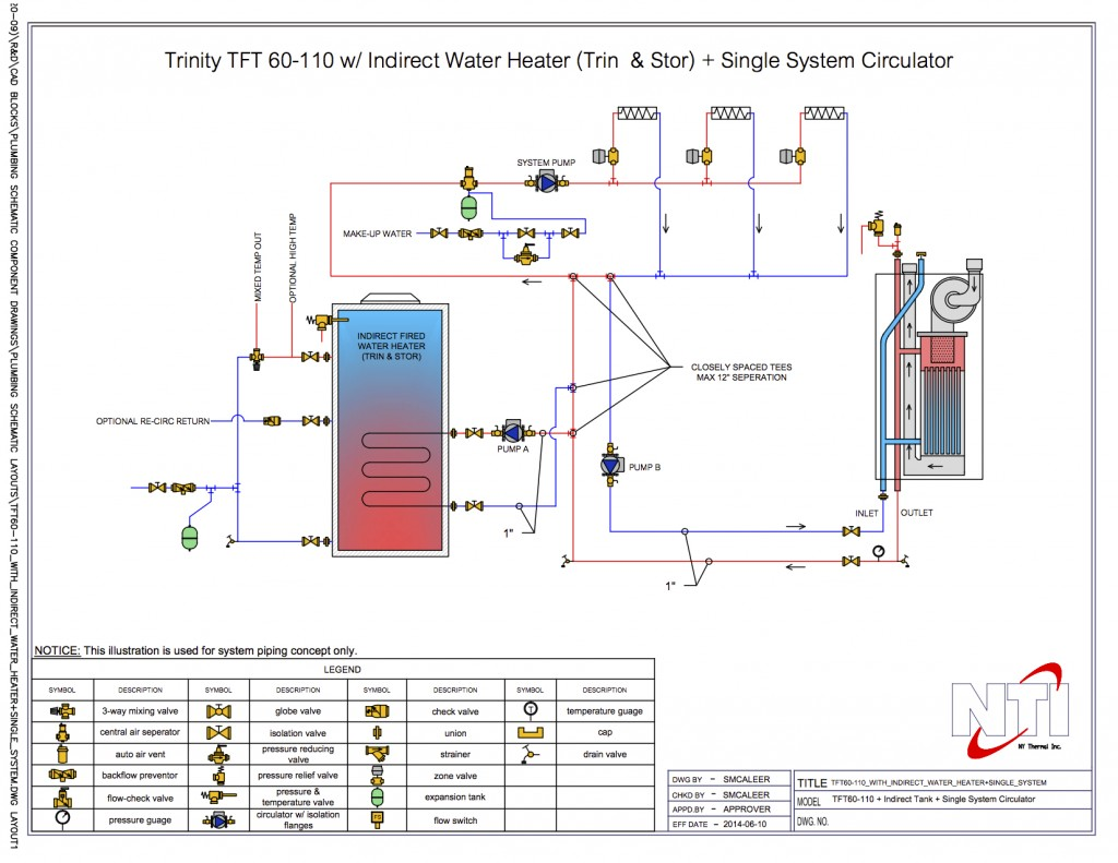 Tft60-110_With_Indirect_Water_Heater+Single_System